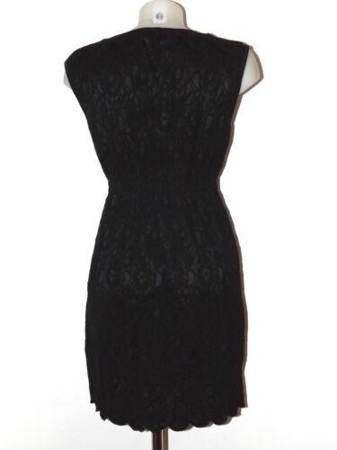 Fourreau Sans S L Dentelle M Mini Robe Inserts Fornarina Noir Manches Satin xnwq7pYTg1