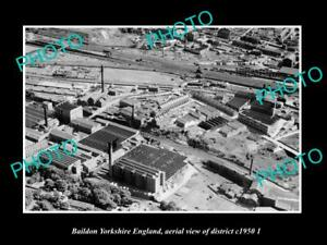 OLD-LARGE-HISTORIC-PHOTO-BAILDON-YORKSHIRE-ENGLAND-DISTRICT-AERIAL-VIEW-c1950-2