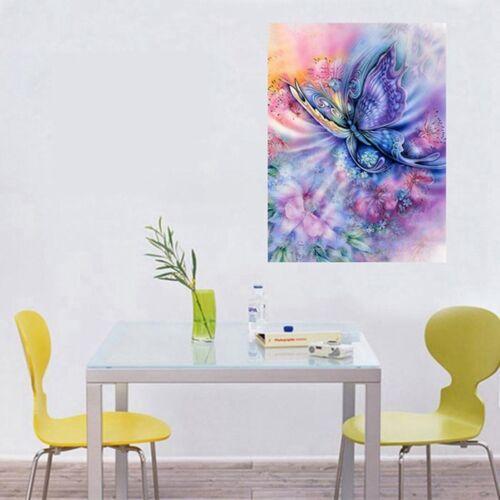 Full Drill Dream Butterfly Flowers 5D Diamond Painting Cross Stitch Kit Decor