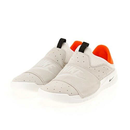 New Nike Men's Benassi SLP Slip on Sneakers shoes - White orange(882410-009)