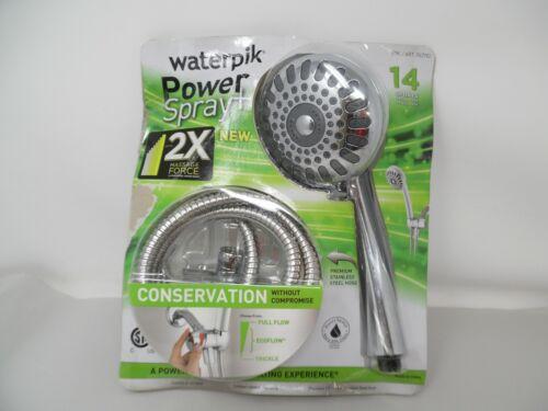 Massage Handheld Shower Head w 14 Spray Settings New Waterpik Cayman PowerSpray
