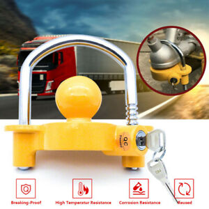 Trailer-Parts-Coupling-Lock-Universal-Hitch-Tow-Ball-2-Keys-Caravan-Antitheft