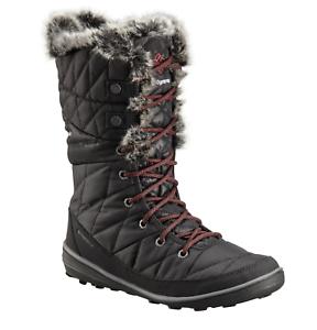 Columbia Women/'s Heavenly Camo Omni-Heat Boots Black//Marsala Red Size 7.5