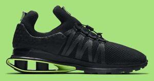 Image is loading Nike-Shox-Gravity-Luxe-Black-Green-Strike-AR1470- 3e3a68d78