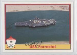 1991-Pacific-Operation-Desert-Shield-57-Uss-Forrestal-Non-Sports-Card-0b6