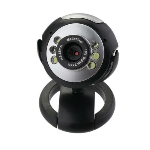12.0M 6 LED HD Webcam 360 Degree USB 2.0 Camera Web Cam w/ MIC for Laptop PC DI