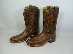 Détails sur Boulet en Cuir Véritable Homme Cowboy Western Boots UK 10 marron made in CANADA afficher le titre d'origine