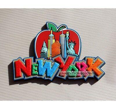 TOURIST SOUVENIR Rubber Travel FRIDGE MAGNET - New York , USA