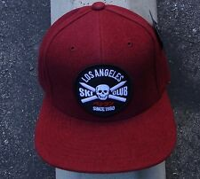 New The Hundreds Skate Club Burgundy Mens Strap Snapback Hat One Size