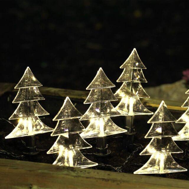 Günstige Weihnachtsbeleuchtung Aussen.Weihnachtsbeleuchtung Leuchtstäbe 5x Led Tanne Gartenstab Außen Weihnachten