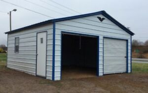 Steel Two Car Garage Carport Workshop 24x31x9 Metal Building FREE ...