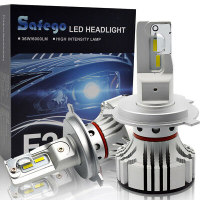 H4 LED Car Headlight Kit Safego Hi//Lo 48W 7200Lm High Quality LED Chips Conversion Kit 12V Replace for Car Halogen Lights or HID Bulbs