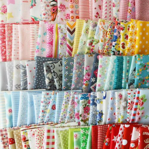 10Stück Patchworkstoffe Stoffpakete Patchwork Stoffreste Stoffe Pakete Baumwolle