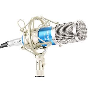 Neewer-NW800-Blue-Studio-Microphone-A-Condensateur-amp-Shock-Mount-anti-vent-en-mousse-Cap