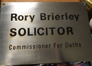 Vintage-Steel-Sign-Reclaimed-Salvage-Commissioner-Oaths-Solicitor-Brierley-Old