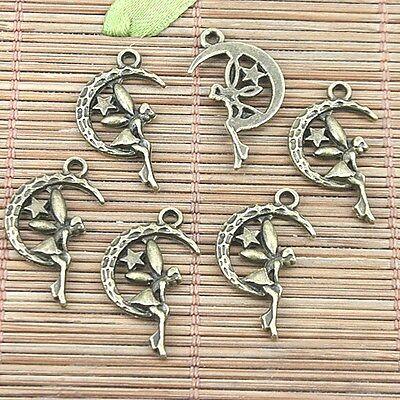 20pcs antiqued bronze color fairy angel design charms H1139