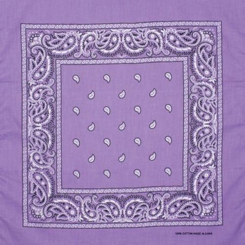 PAISLEY BANDANA CLOTH HEAD SCARF BIKER NECKERCHIEF 100/% COTTON NIKKI UNISEX