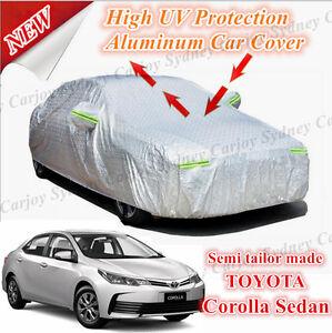 Premium-Rain-Waterproof-Aluminum-Car-Cover-Medium-Toyota-Corolla-Ascent-Sedan