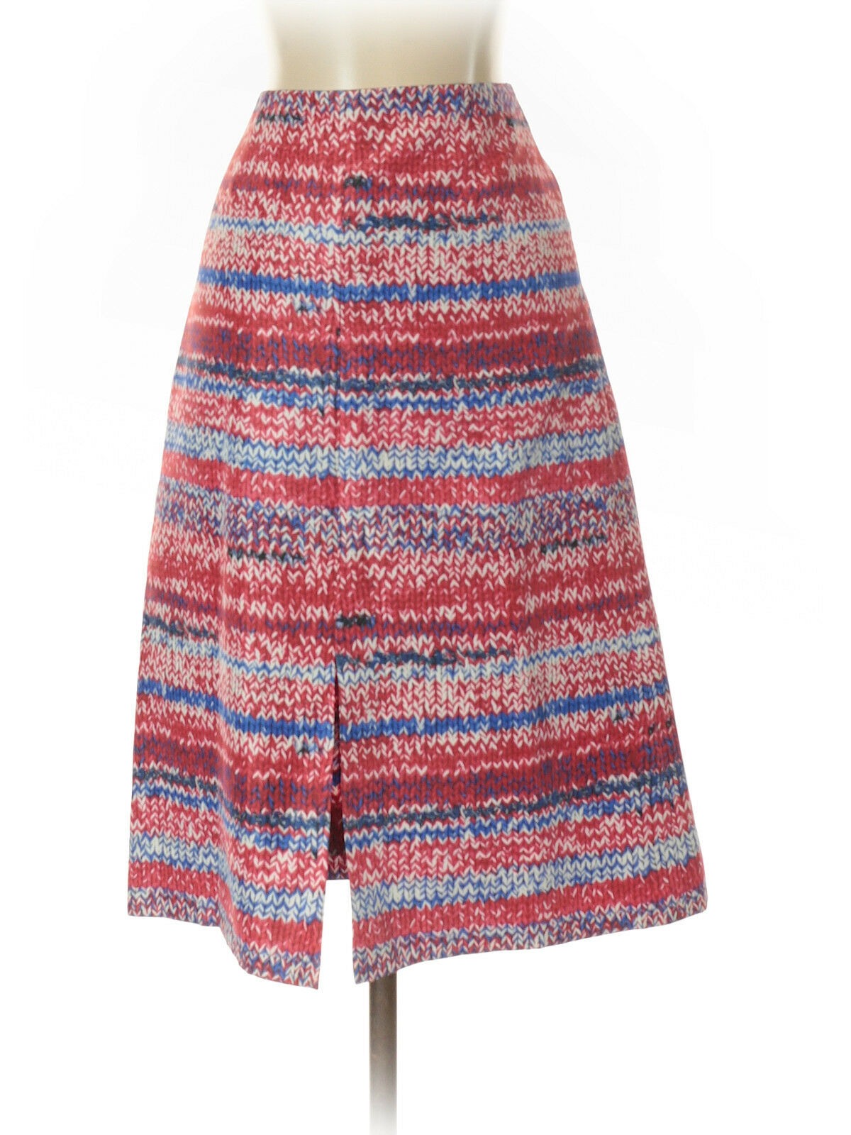 Tory Burch Red  Knit Print  Red White bluee A-Line Skirt, Size 0, NWT   275