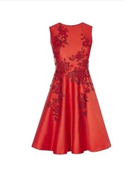 13f2d9285b4116 Millen Damen Kleid Gr.12 rot neu Karen nclwsg2938-neue Kleidung ...