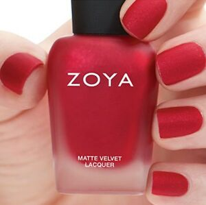 Image Is Loading ZOYA ZP816 AMAL MATTE VELVET Winter Holiday Red