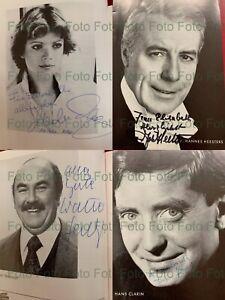 245 x original Autogramm Autograph Signiert 32 Hefte Kleine Komödie München Glas