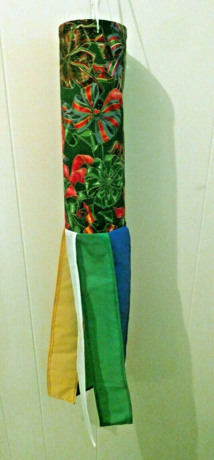 Windsock - Handmade - Christmas - Different Colored Christmas Bows