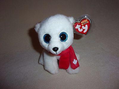 """Canada Exclusive NANOOK NANUQ the Polar Bear 6/"""" NEW MWMT Ty Beanie Boos"""