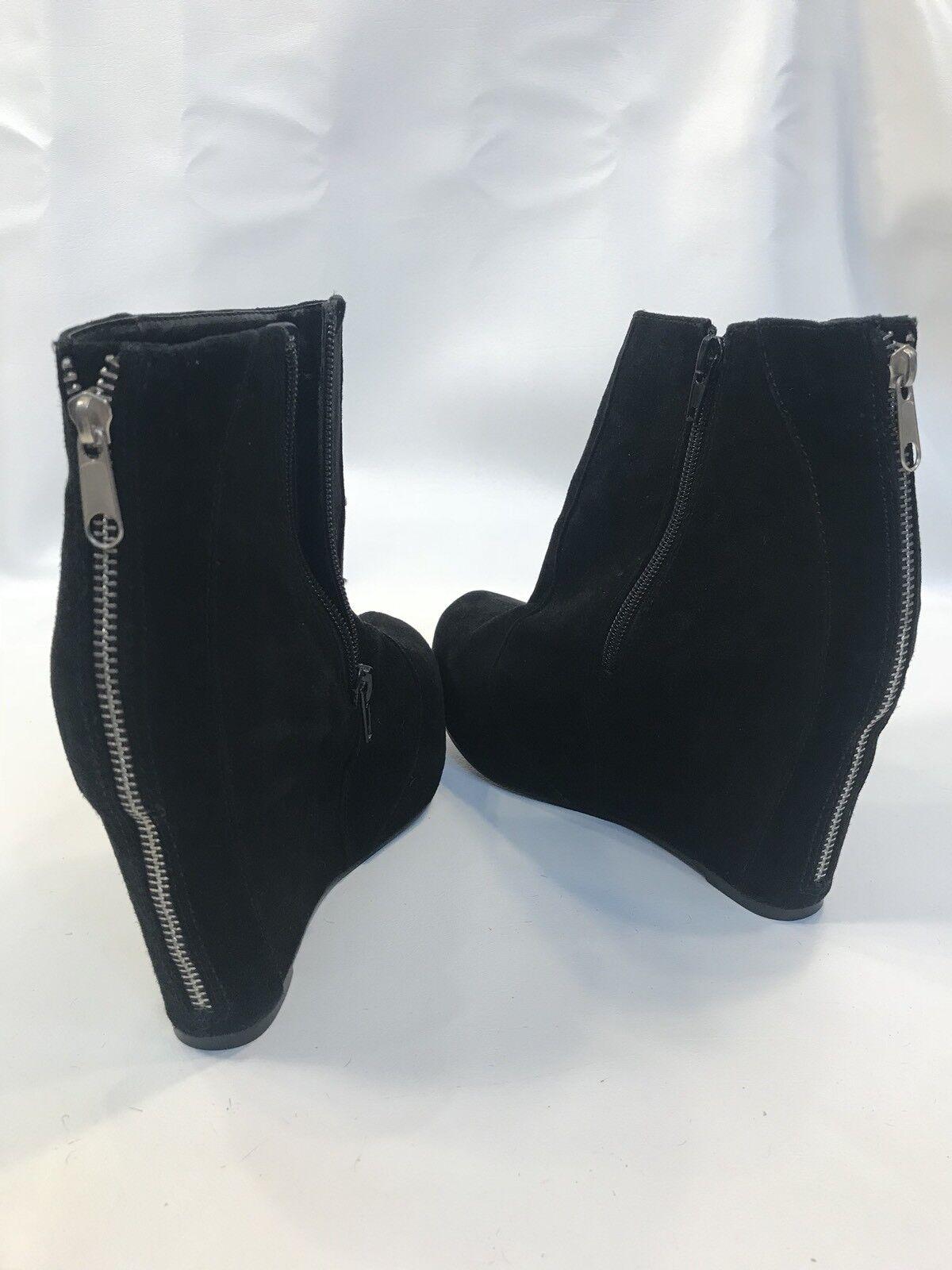 Jeffrey Campbell Pixie 9.5 Cuña Plataforma botas al Tobillo Cremallera Cremallera Cremallera Trasera  venta con descuento