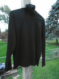 St-Johns-Bay-Black-Long-Sleeve-Size-Medium-100-Cotton-Turtleneck-Shirt-Preloved