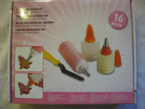 Garnierhilfe Set Deko Garnierflaschen mit Spritztüllen Kuchen Gebäck verzieren