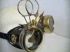 Pro Steampunk Safety Goggles Aged Copper Brass Clockwork Lab Top Hat Glasses 5X2