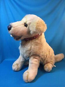 Fao Schwarz Golden Retriever Yellow Labrador Puppy Dog Stuffed Plush