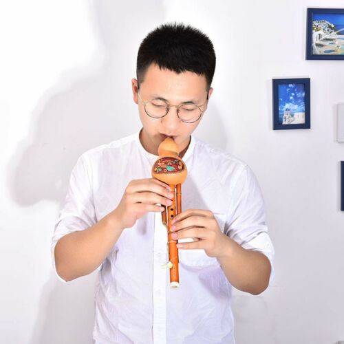 ChineseHulusi Gourd Cucurbit Flute Ethnic Musical Instrument Key Of C With C ML