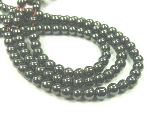 Hématite Boules Perles Rond 4 mm 1 Strang