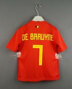 super popular 28a30 68db7 4.8/5 De Bruyne Belgium jersey 7-8 years 2019 home shirt ...