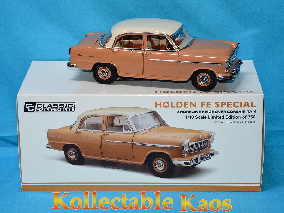 1 18 Classics - 1956 Holden FE Special - Shoreline Beige Over Corsair Tan
