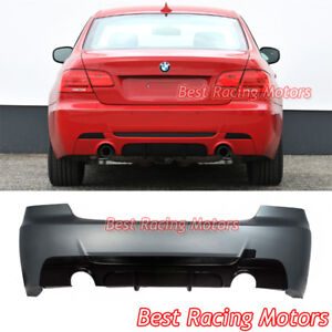 Performance Style Rear Bumper (Dual Exhaust) Fit 07-13 BMW E92 2dr 3-Series 335i
