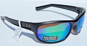 5ed949dba292 Image is loading UNDER-ARMOUR-Capture-POLARIZED-Sunglasses -Shiny-Black-Green-