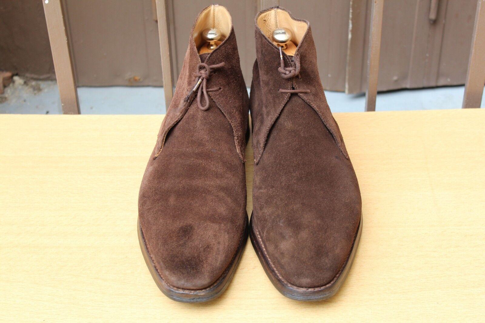CHAUSSURE bota CROCKETT&JONES  TETBURY  DAIM 9,5 E 43,5 SUPER ETAT hombres zapatos