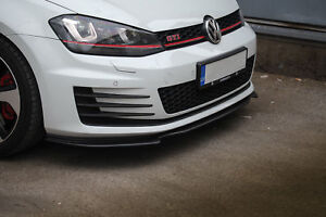 Para-VW-Golf-MK-VII-MK-7-GTI-Parachoques-Delantero-Taza-Aleron-Labio-Barbilla-cenefa-Divisor