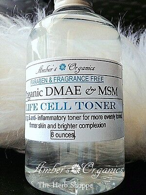 Organic DMAE & OptiMSM Anti Aging Toner.  Helps Remove Age Spots.