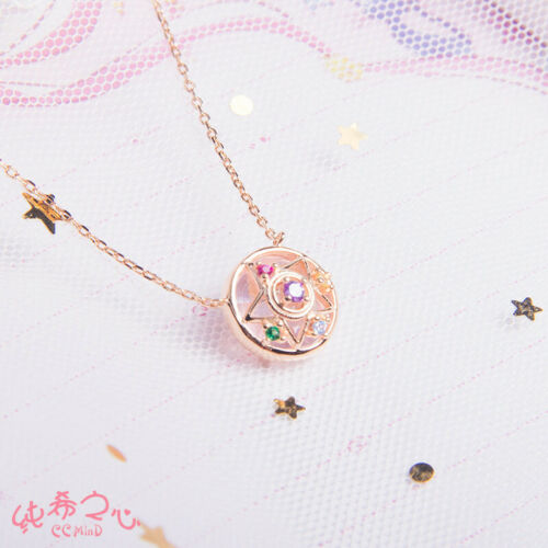 Sailor Moon 20th Anniversary Star Pendant Necklace 925 silver 18k Rose Gold