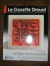 La Gazette Drouot N°14 2010 1014  Mochica Salon livre Ricou Taverne Weisweiler