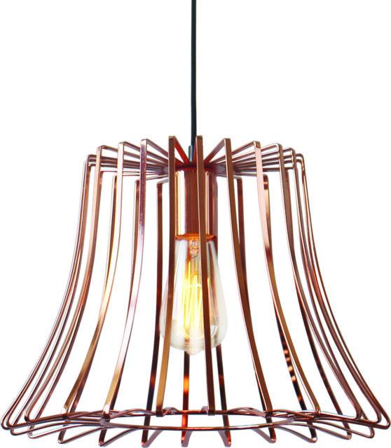 Luminite Modern E27 Iron Pendant Lamp Nest Copper **FREE DELIVERY**