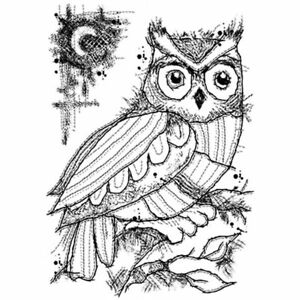 Image result for woodware midnight owl stamp