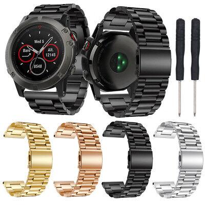 26mm Edelstahl Armband Uhrenarmband Ersatz Strap Für Garmin Fenix 5x Plus Watch