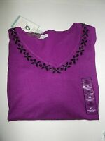 Purple Sweater With Beads Women's (xxl) Ships Free
