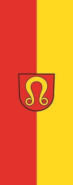 Fahne Flagge Nufringen im Hochformat verschiedene Größen