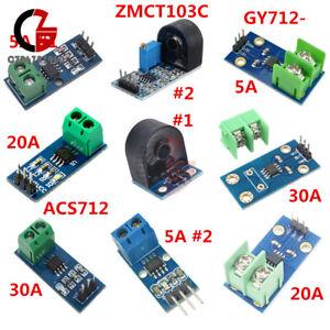 Details about 5A/20A/30A Range ACS712/GY712/ZMCT103C Current Sensor Module  for Arduino